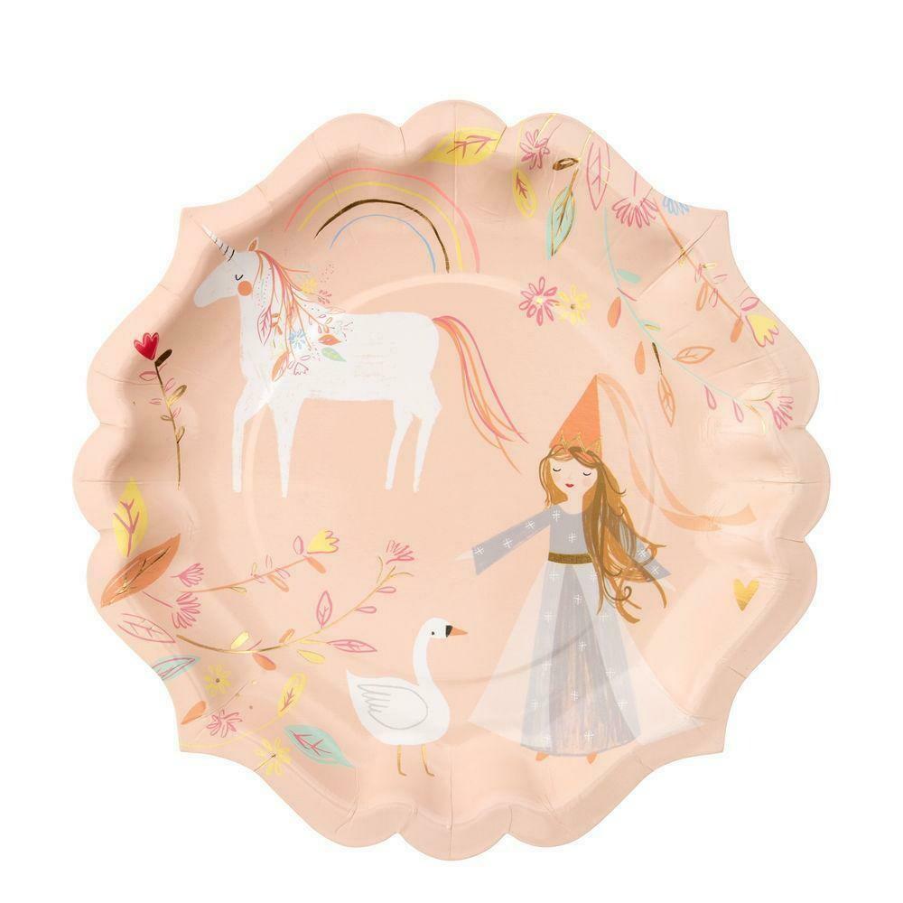 8 Magical Princess Large Plates