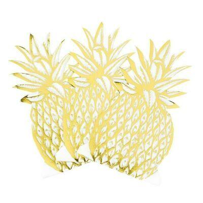 12 Modern Metallics Pineapple Napkins