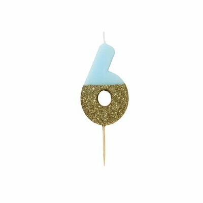 Glitter Candle Blue -6