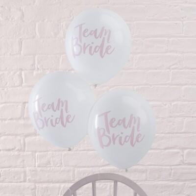 10 Team Bride PARTY BALLOONS