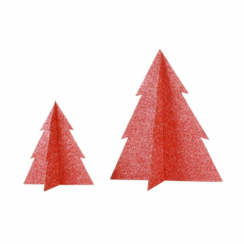 Glitter Christmas Tree - Red (20 cm)