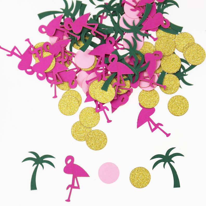 Flamingo and Palm Tree Confetti