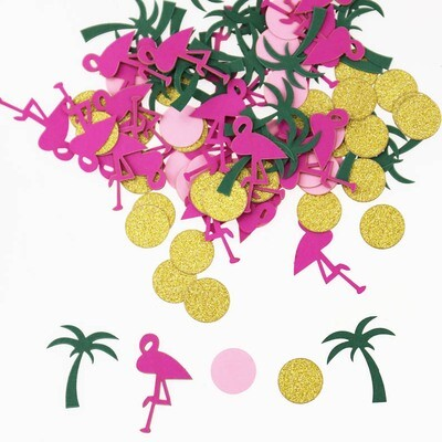Flamingo and Palm Tree Confetti