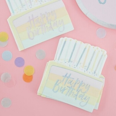16 BIRTHDAY CAKE PAPER NAPKINS