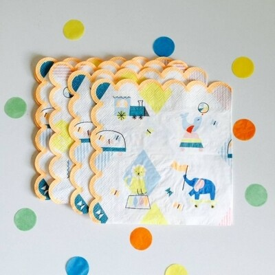 20 Silly Circus Napkins