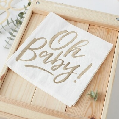 16 OH BABY! Paper Napkins