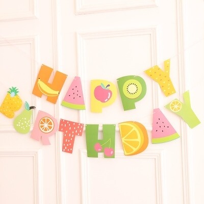 Fruity Happy Birthday Garland