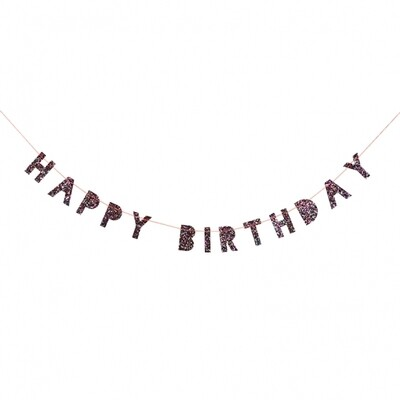 Colored Glitter Birthday Mini Garland
