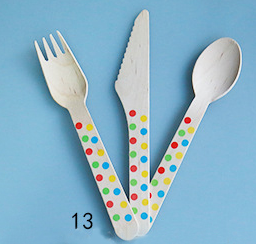 10 Rainbow Dotted Cutleries