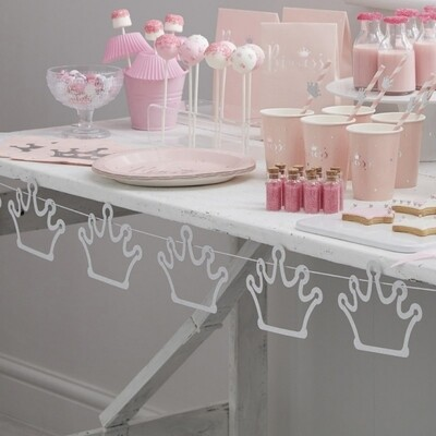 CROWN BUNTING DECORATION PRINCESS PARTY