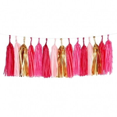 Tassel garland kit - Pink