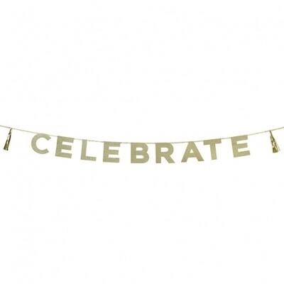 Glitter 'Celebrate' Banner