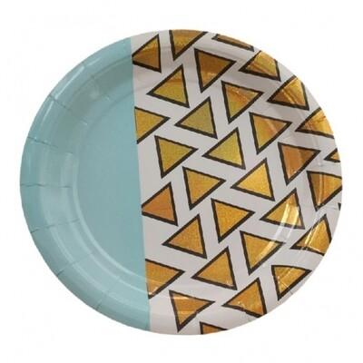 12 Paper Plates - Disco Diamond Large