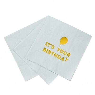 16 Birthday Blue Napkins