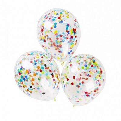 5 Multicolored Confetti Inside Balloon