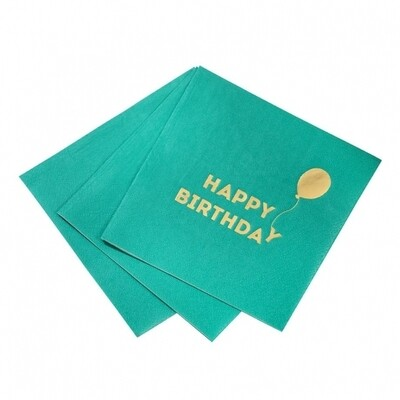 16 Bright Happy Birthday Napkins