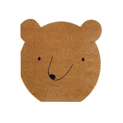 20 Small Bear Napkins