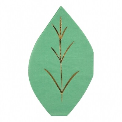 16 small Leaf Napkins