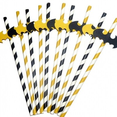 25 Batman party straws