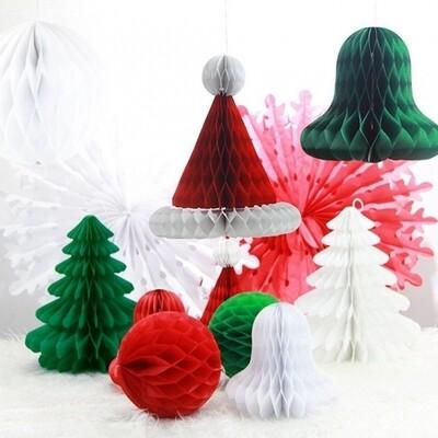 6 Christmas Honeycombs