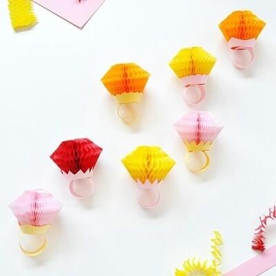 10 Diamond Honeycomb Rings