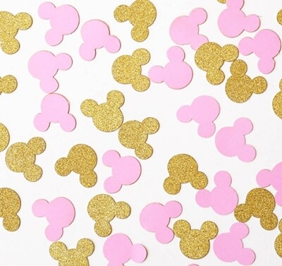 Pink and Gold Minnie Confetti
