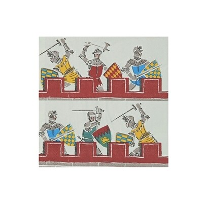 20 Brave Knights Small Napkins