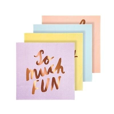 16 Typographic Napkins