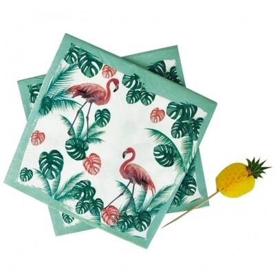 20 Paper Napkins - Flamingo Mood