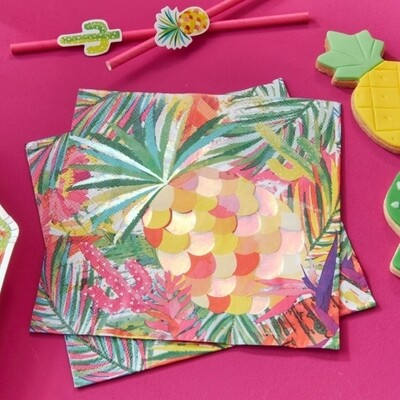 16 IRIDESCENT PINEAPPLE NAPKINS
