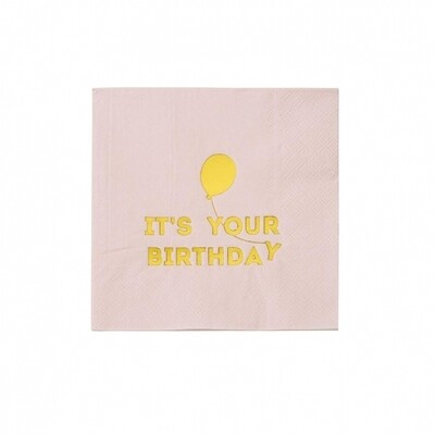 16 Birthdays Pink Napkins