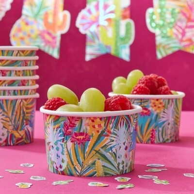 8 IRIDESCENT PINEAPPLE TREAT ICE CREAM TUBS