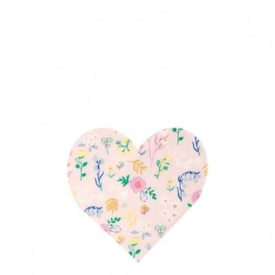 20 Wildflower Heart Small Napkins