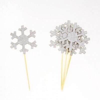 24 Snowflake cake topper