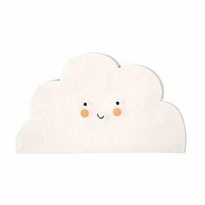 20 Cloud Shaped Napkins