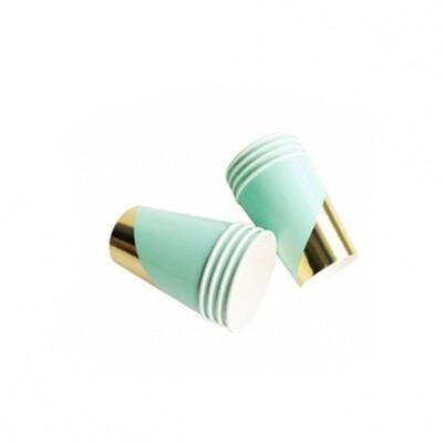 8 Paper cups - Goddess Aqua Colorblock