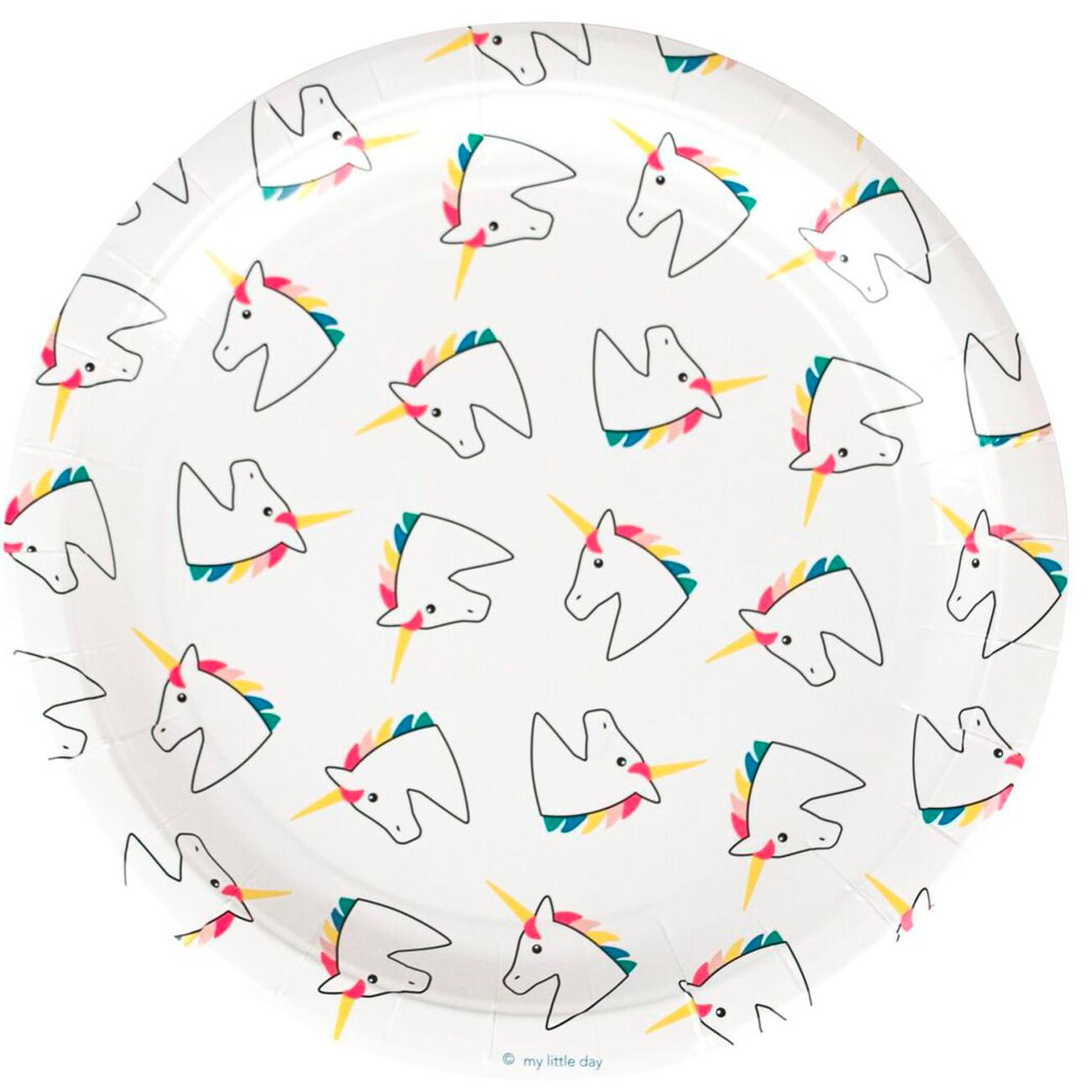 8 paper plates - Unicorn