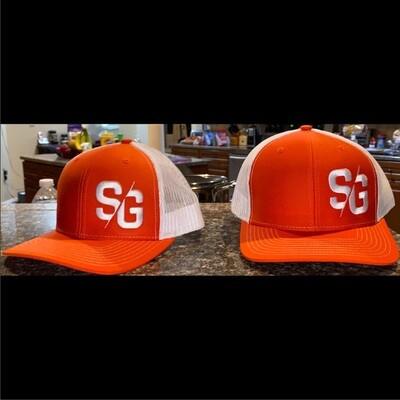 SG Logo Orange & White Trucker Hat