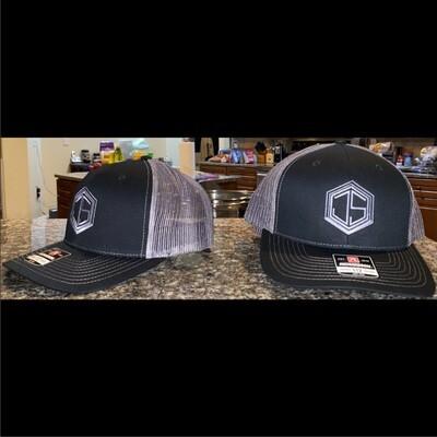 JS Logo Black & Charcoal Curve Bill Trucker Hat