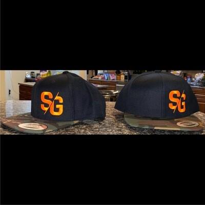 SG Logo Black & Camo Flat Bill Snapback Hat