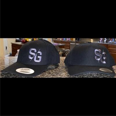 SG Logo Black Curved Bill Snapback Hat
