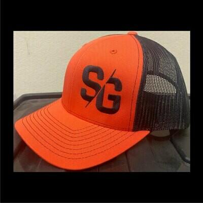 SG Logo Orange & Black Trucker Hat