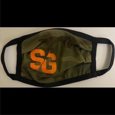 SG Logo Green Camo Face Mask