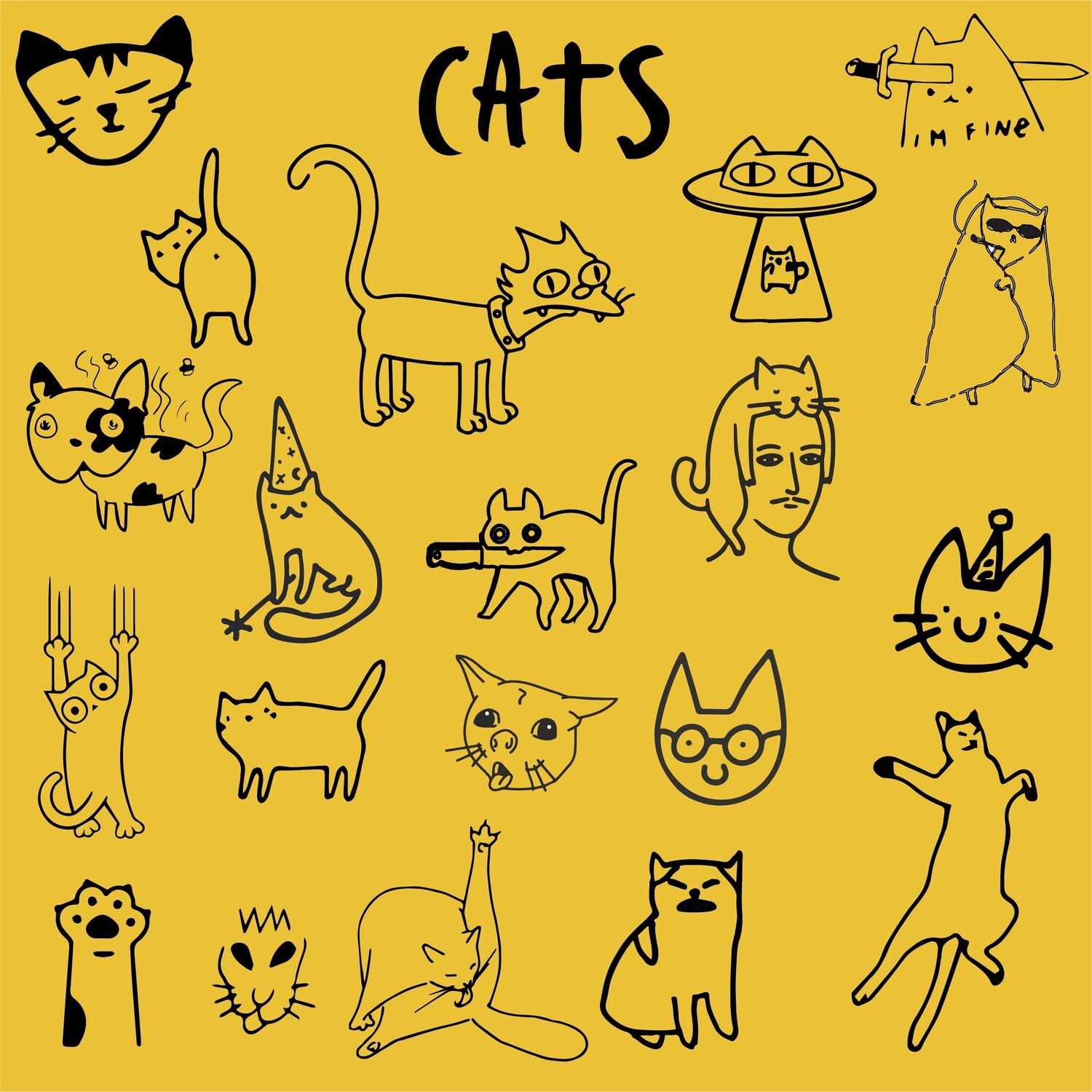 SERIE CATS FLASH TATTOO