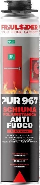 PUR 967 SCHIUMA POLIURETANICA ANTIFUOCO