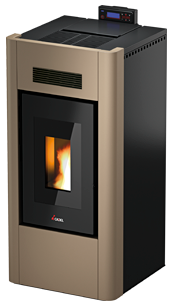Stufa a pellet IDRO PRINCE 23kw ACS LIGHT BRONZE