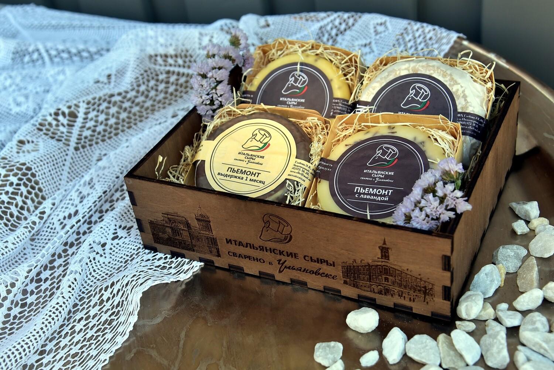 Подарочный набор в брендированной деревянной коробке