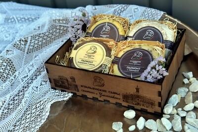 Подарочный набор в деревянной коробке