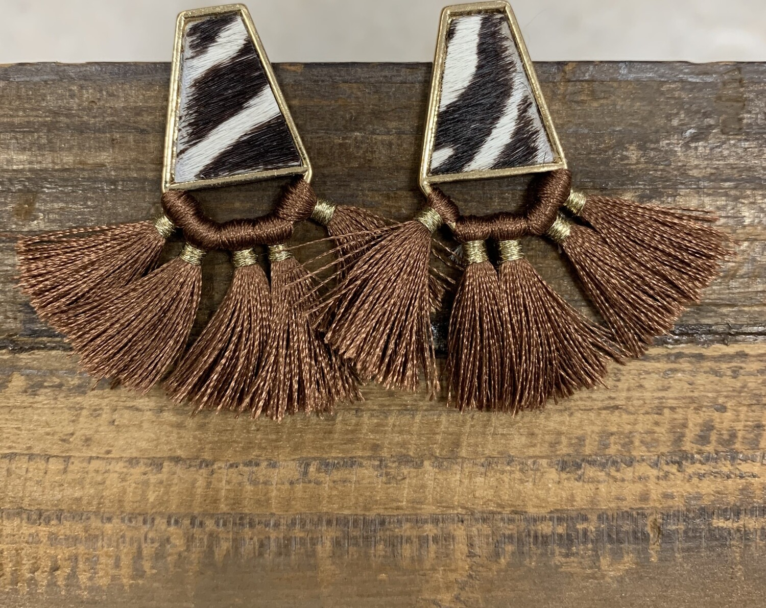 Tassel Animal Print Earrings