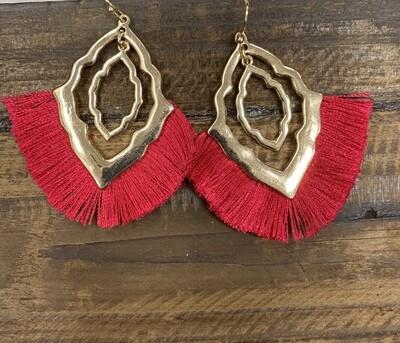 Tassel Geo Pointed Earrings